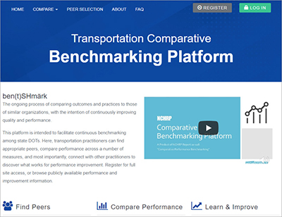 Performance Benchmarking Guide and Digital Web Tool for State DOTs (NCHRP)